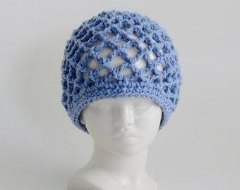 Crochet Pattern - Summer Hat - Mesh Hat - Girls Hat - Womens Hat - XL Hat - Cloche - Meadowvale Studio # 212