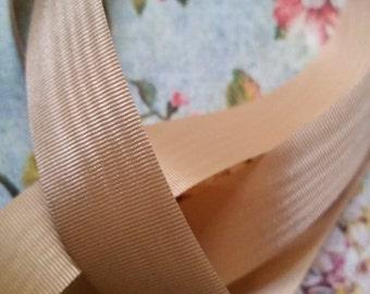 2 Yds Vintage Cream Moire Trim Ribbon | 7/8 Inch