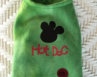 Stretch fleece pull over for dogs