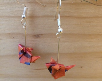 Origami mouse earrings