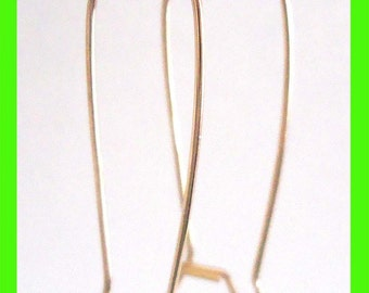 10pcs Large 35mm 14k yellow Gold Filled Kidney Earring Ear Wire Earwire  GE09