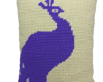 "cushion in canvas ""Peacock"""