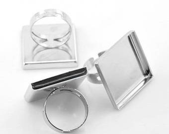 2 support ring adjustable square tray (25mm pr)