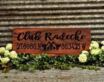 Beach House Decor Wood Sign Beach Sign Personalized Beach Wood Sign Custom Coastal Beach Decor Tropical Decor Sign Personalized Beach Signs