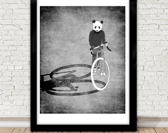 Panda bike ride poster