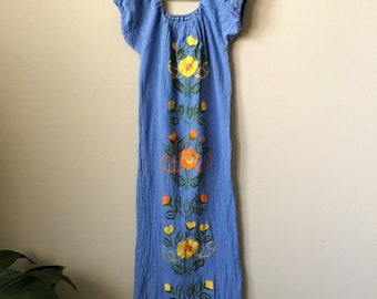 vintage womens mexican dress