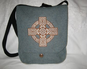 Celtic Cross Haversack  - wool and silk
