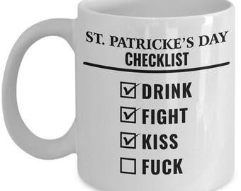 St. Patrick Coffee Mug | Goon - St. Patrick's Day Checklist | St Pattys Beer | St Patty Day | St Pattys Day | St Pattys Mugs