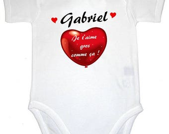 I love you like this Bodysuit personalized with name