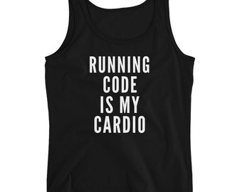 XS-2XL / Coding is My Cardio Women's Tank / 4 colors / Coder Gift / Programmer Gift / Computer Science Gift / Professor Gift / Data Science