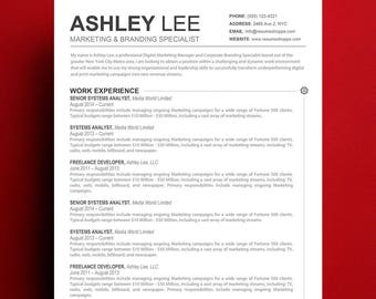 Resume Template Mac U0026 Apple Pages Ready