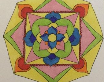 Colorful Mandala Print