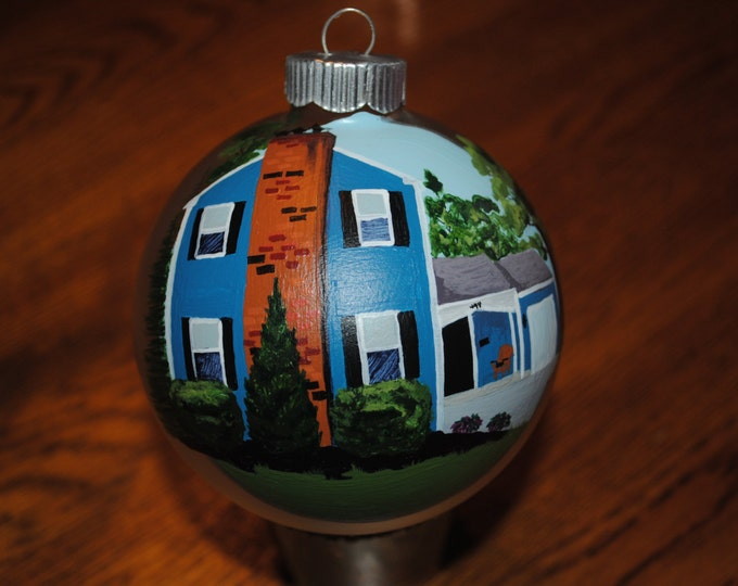 Custom Hand Painted Ornament done from picture  - sold