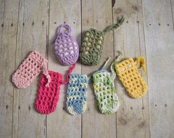 Soap Saver - Soap Sack - Soap Bag - Soap Holder - Bar Soap Holder - Soap Sleeve -  Set of 3