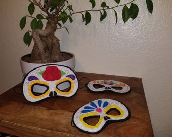 Felt Day of the Dead Mask