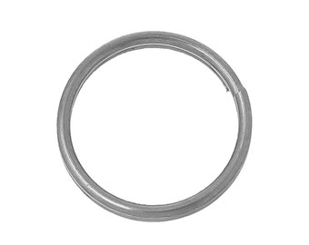 50pcs 6mm Stainless Steel Split Ring - Jump, Jewelry Finding, Jewelry Making Supplies, Chainmaille, DIY Crafting, Ships from USA - JR138