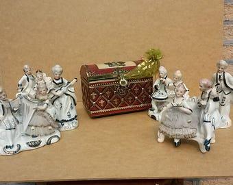 Porcelain figurines musician
