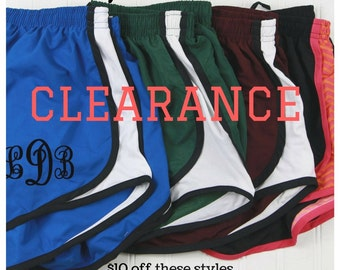 Monogrammed Running Shorts - Sale Personalized Athletic Shorts - Clearance Monogrammed Bridesmaid Gift - Cheerleading Shorts - Norts for Her
