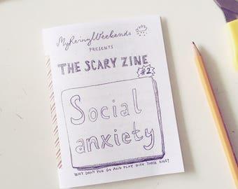 Social anxiety zine / Personal zine / The Scary Zine series / DIY
