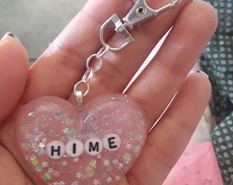 Custom Resin Heart/Pin/Keychain