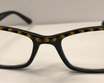 Hand painted martini reading glasses