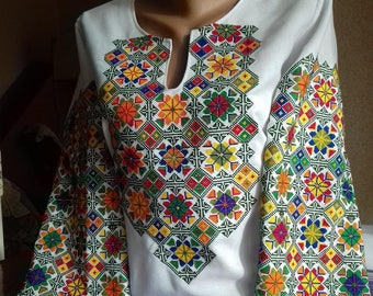 Ukrainian embroidery, embroidered blouse, XS - 4XL, Ukraine