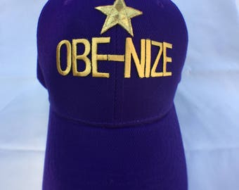 Personalized Hat Purple and Gold