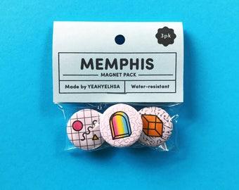 SALE — Memphis Magnet Pack, Magnets, Magnet Pack, Kitchen Magnets, Kitchen Decor, Pattern Design, Fridge Magnets, Refrigerator Magnets