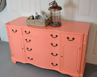 Coral credenza / sideboard / changing table / buffet table
