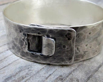 Sterling Latch Cuff by donnaodesigns