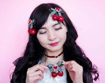 Cherry Hairclip or Choker