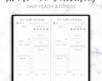Traveler's Notebook Standard Daily Health & Fitness Insert Printable