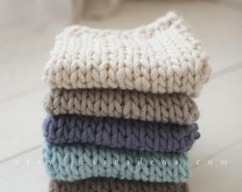 Alpaca wool mini blanket newborn photography prop layers