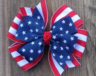 4th of July Hair Bow~Hair Bows for Girls~July Boutique Hair Bow~Red Boutique Hair Bow~July 4th Hair Bow~Patriotic Hair Bow~Hairbow for Girls