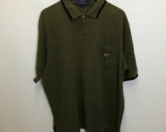 Vintage Ralph Lauren - POLO SPORT - Olive Green Polo Shirt - XL