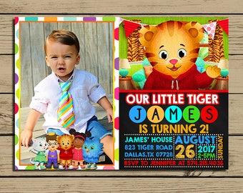 Daniel tiger invite Etsy