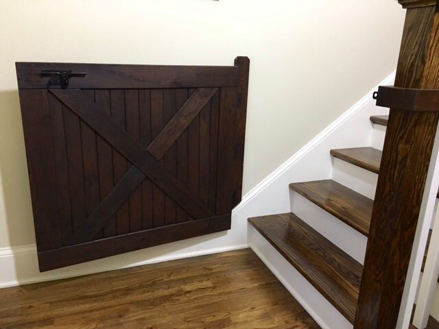 Baby Gate, Pet Gate, Stair Gate, Dog Gate, Barn Door Gate, Made With  Reclaimed Oak