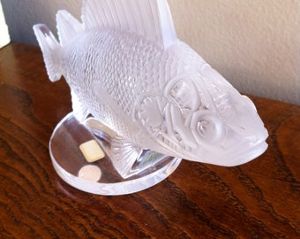 Lalique Fish Perch Frosted Art Glass