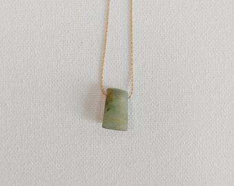 Jadeite Stone Necklace, Natural Jadeite, Jadeite Stone Pendant, Jade Necklace, Green Jadeite Necklace, Jadeite Jewelry, Metaphysical Jewelry