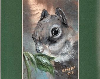 Original Acrylic Painting - Squirrel