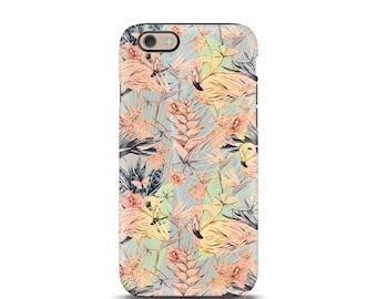 iPhone 7 Case, iPhone 6 Case, iPhone 8 case, iPhone 6s Plus case, iPhone 6s tough case, iPhone 6 tough case, iPhone 5s tough case - Flamingo