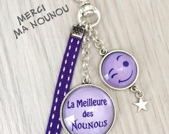 cadeau nurse nounou porte-clés bijou de sac a message thème la meilleure des nounous .REF.121