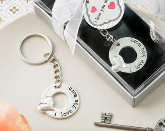 I love You More Keychain Bridal Shower Wedding Favor
