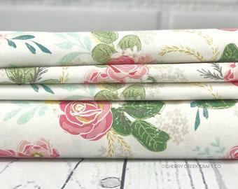Grandale Fabric - Main Cream Floral Fabric - Keera Job - Riley Blake Designs - Sold by Half Yard