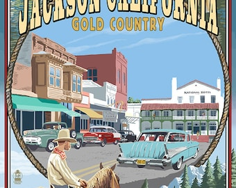 Jackson, California Montage (Art Prints available in multiple sizes)