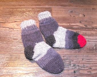Low wool slippers, baby, bottom, booties, knitted, wool slippers, original