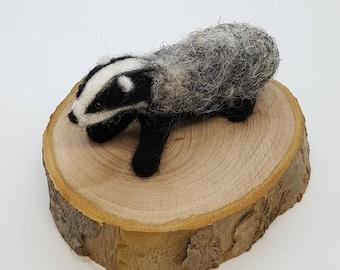 Badger badger badger badger, Needle felt Badger, Needle felted Badger, Felted Badger, Wool Badger, Badger ornament, Badger, Brock