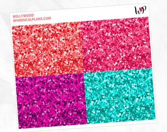 Bollywood Glitter Headers | Matte Glossy Planner Stickers