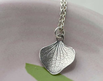 Silver Petal Necklace | Sterling Silver Necklaces for Women | Gifts for Mom | Gift for Women | Handmade Jewelry Jewellery by Burnish