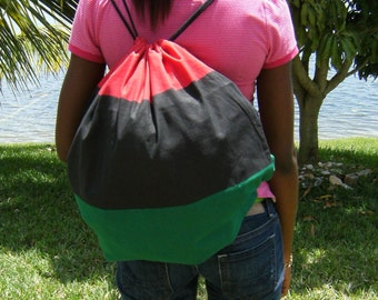 Black Pride Backpack- Red,Black,Green